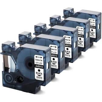 Etiquette Transfert Thermique Dymo 45013 - Permanent Adhésif - 12 mm Largeur x 7 m Longueur - Rectangle