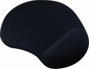 Tapis de souris noir avec repose-poignet