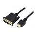 Cordon DVI-D M single link (18+1) - HDMI M - 1,8 m