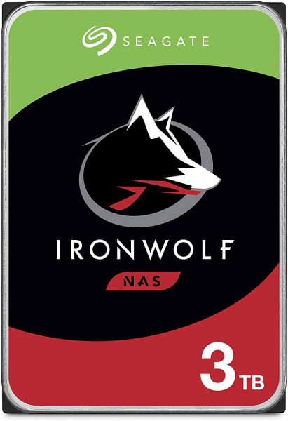 Disque SEAGATE NAS HDD 3TB IronWolf 5900rpm 6Gb/s SATA 64MB cache 3.5inch 24x7 for NAS and RAID rackmount