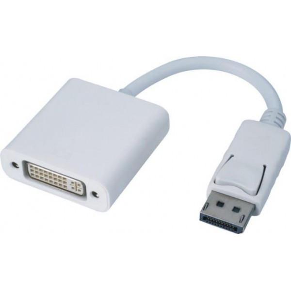 Adaptateur DisplayPort 1.1 M vers DVI-I (24+5) F - AWG30 - 0.20m