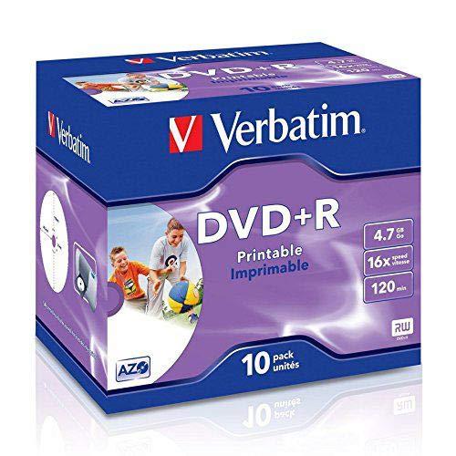 DVD-R Verbatim 4.7gB 16X Print JCX10