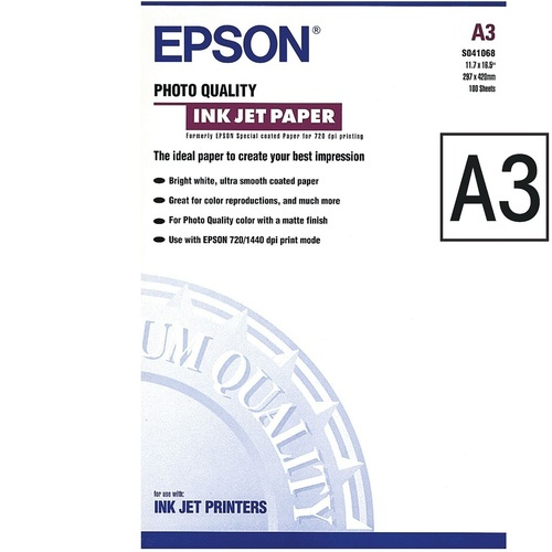 Papier photo Epson A3 104g/m²