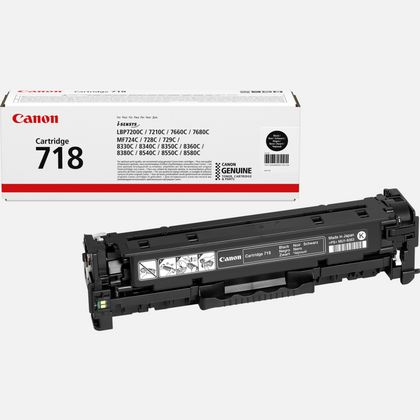 Canon I-Sensys LBP-7200/7210/7660/7680 (718BK) Black