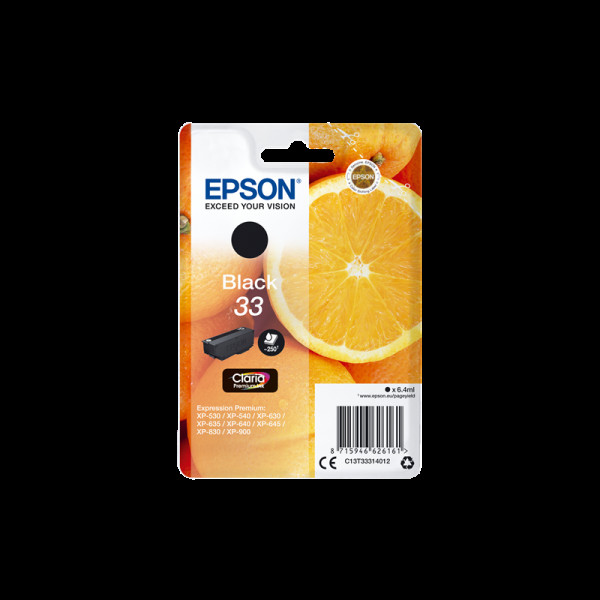 Cartouche Epson 33 noire