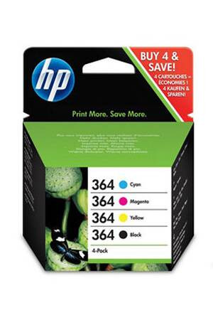 HP 364 CMYK Cartouches Combo 4 Pack